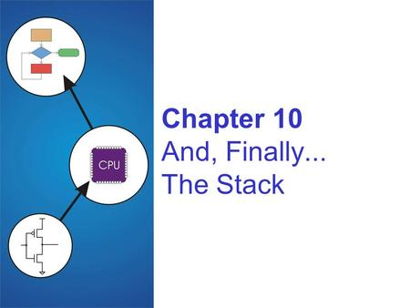 Chapter 10 And, Finally... The Stack. Copyright © The McGraw-Hill Companies, Inc. Permission required for reproduction or display. 10-2 Stack: An Abstract.