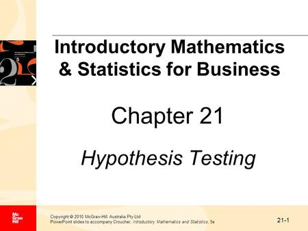 Introductory Mathematics & Statistics for Business