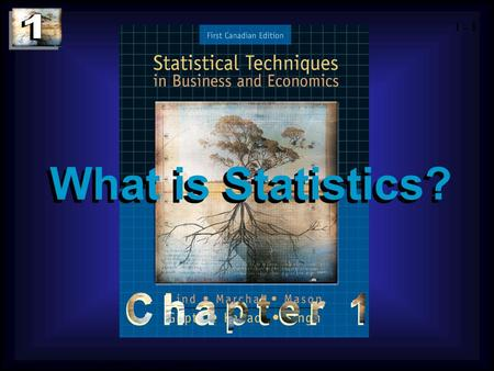 1 - 1 Copyright © 2004 by The McGraw-Hill Companies, Inc. All rights reserved. What is Statistics?