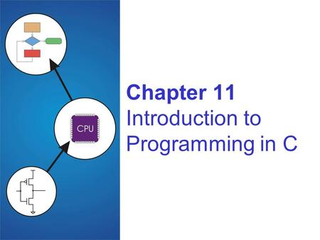 Chapter 11 Introduction to Programming in C. Copyright © The McGraw-Hill Companies, Inc. Permission required for reproduction or display. 11-2 C: A High-Level.