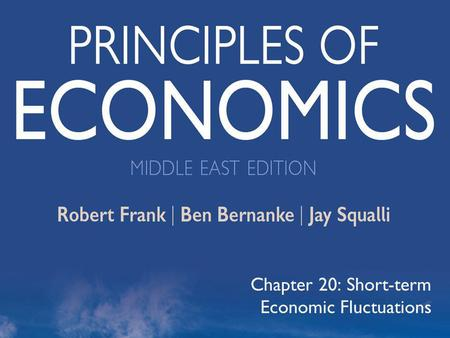 ©2012 The McGraw-Hill Companies, All Rights Reserved 1 Chapter 20: Short-term Economic Fluctuations.