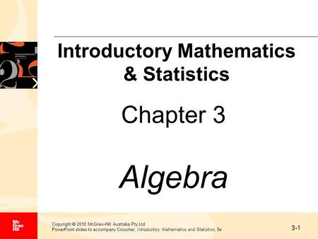 Introductory Mathematics & Statistics