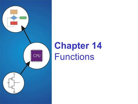 Chapter 14 Functions. Copyright © The McGraw-Hill Companies, Inc. Permission required for reproduction or display. 14-2 Function Smaller, simpler, subcomponent.