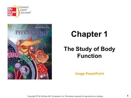 1 Chapter 1 The Study of Body Function Image PowerPoint Copyright © The McGraw-Hill Companies, Inc. Permission required for reproduction or display.
