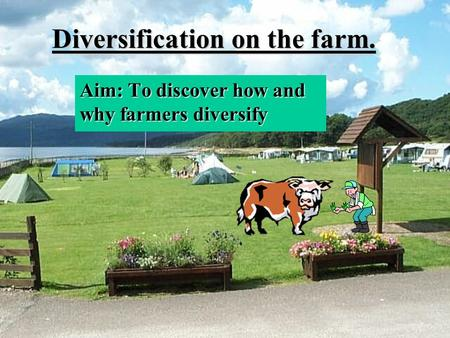 Diversification on the farm. Aim: To discover how and why farmers diversify.