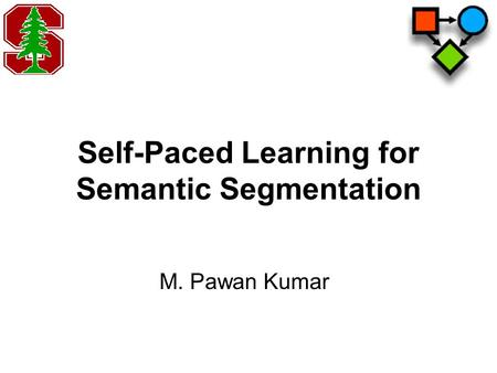 Self-Paced Learning for Semantic Segmentation M. Pawan Kumar.
