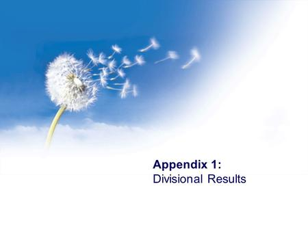 Appendix 1: Divisional Results. Introduction Segmentals Financials Group Outlook 2 Bidfreight …% Trading margin 2.9% 3.3% Rm RevenueRm Trading Profit.