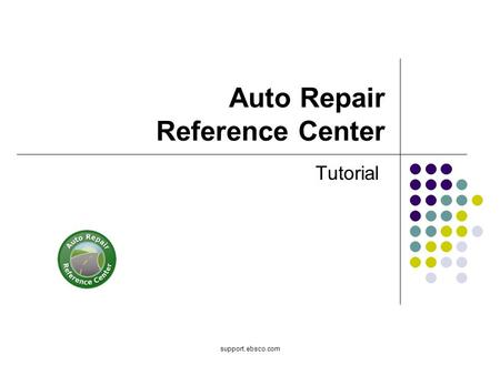 Support.ebsco.com Auto Repair Reference Center Tutorial.