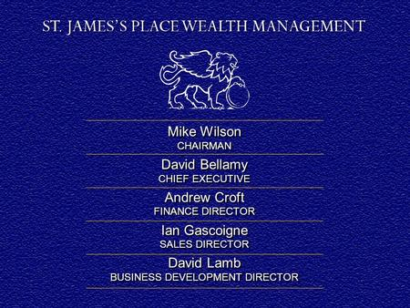 INTERIM RESULTS July 2008. Mike Wilson CHAIRMAN David Bellamy CHIEF EXECUTIVE Andrew Croft FINANCE DIRECTOR Ian Gascoigne SALES DIRECTOR David Lamb BUSINESS.