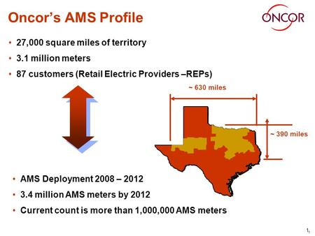 Oncors Advanced Meter System (AMS) Enabling Demand Response for Retail Electric Providers in Texas Mark Carpenter June 24, 2010.