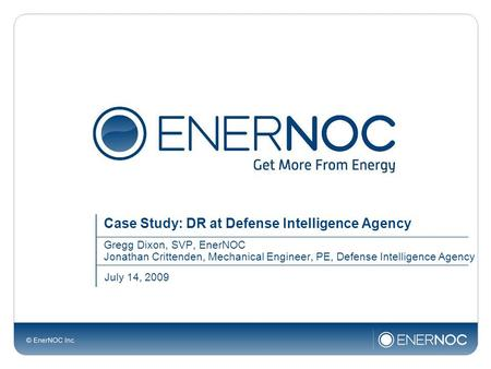Case Study: DR at Defense Intelligence Agency