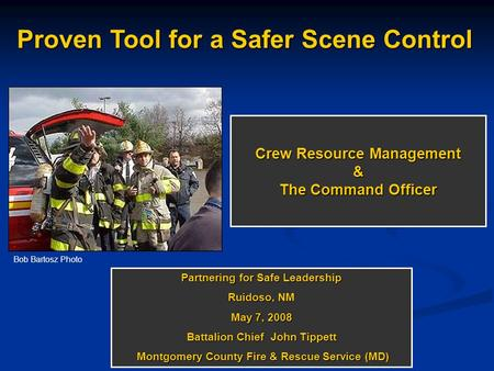 Crew Resource Management & The Command Officer