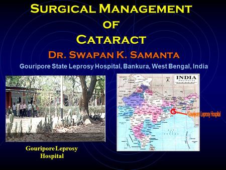 Surgical Management of Cataract