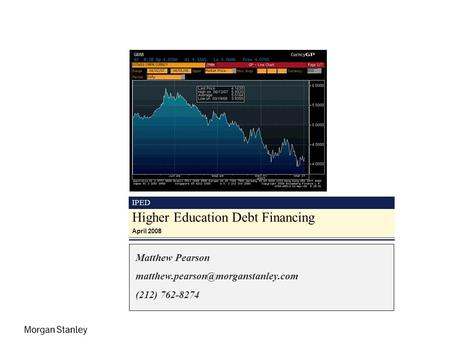 IPED Higher Education Debt Financing April 2008 Matthew Pearson (212) 762-8274.
