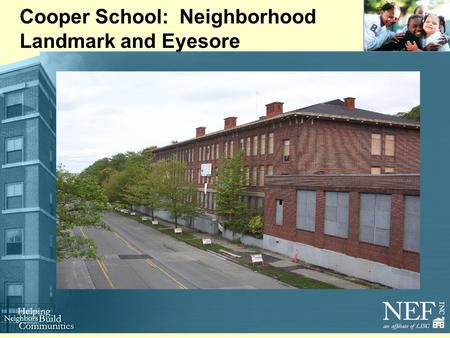 Cooper School: Neighborhood Landmark and Eyesore.