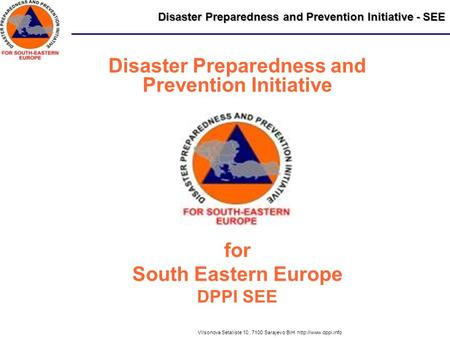 Disaster Preparedness and Prevention Initiative