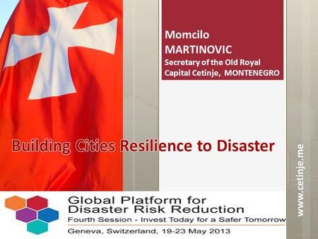 Building Cities Resilience to Disaster