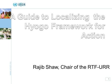 A Guide to Localizing the Hyogo Framework for Action
