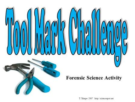 Forensic Science Activity T. Trimpe 2007