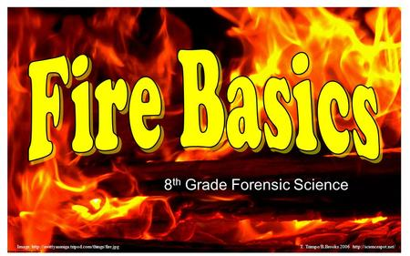 8 th Grade Forensic Science Image:  Trimpe/B.Brooks 2006
