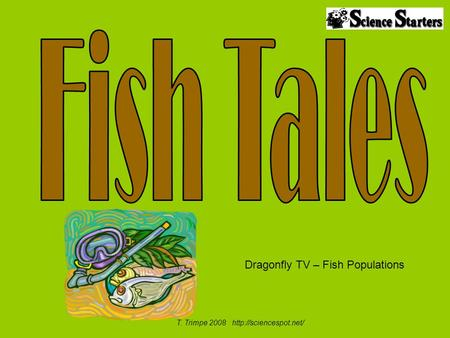 T. Trimpe 2008  Dragonfly TV – Fish Populations.