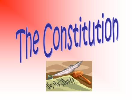 The Constitution Preamble ~ Explains why the Constitution was written Articles (7) ~ Describe how the government works and how the Constitution works.