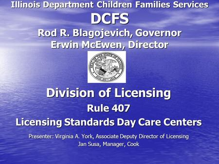 Licensing Standards Day Care Centers