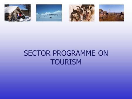 SECTOR PROGRAMME ON TOURISM. Will be done by consultant, Nordic Marketing Financed from Barents 2010.