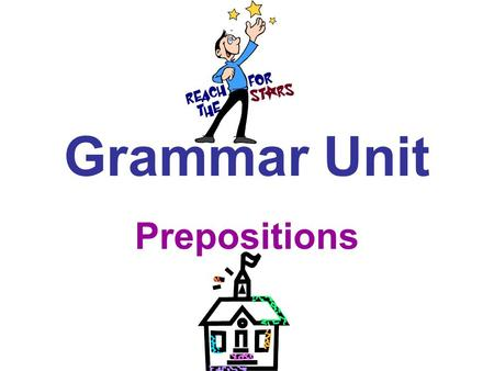 Grammar Unit Prepositions. Lets Review... The preposition is the sixth of the eight parts of speech. Just for the record, here are all eight: Noun Pronoun.