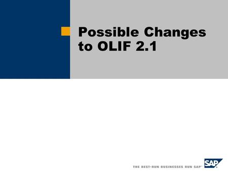 Possible Changes to OLIF 2.1. General Issues Japanese.