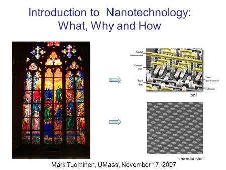 Introduction to Nanotechnology: