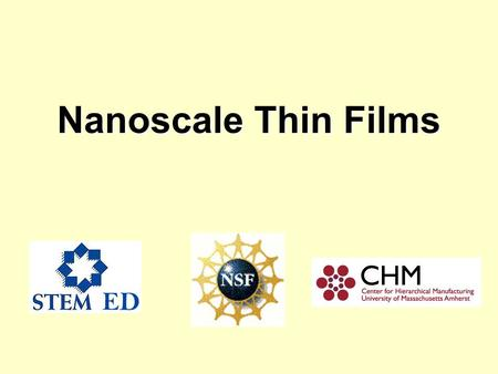 Nanoscale Thin Films. Todays Agenda Ben Franklins ObservationBen Franklins Observation Interactions between Oleic Acid and WaterInteractions between Oleic.