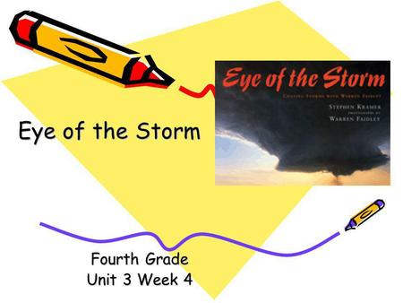Fourth Grade Unit 3 Week 4 Eye of the Storm Words to Know destruction expected forecasts inland shatter surge.