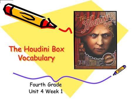The Houdini Box Vocabulary Fourth Grade Unit 4 Week 1.