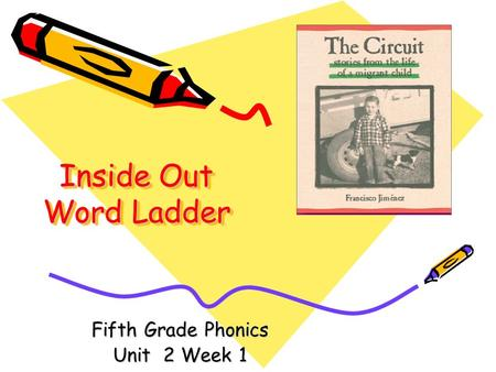 Fifth Grade Phonics Unit 2 Week 1