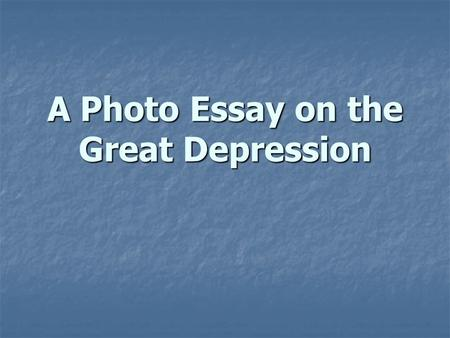 Essay on depression