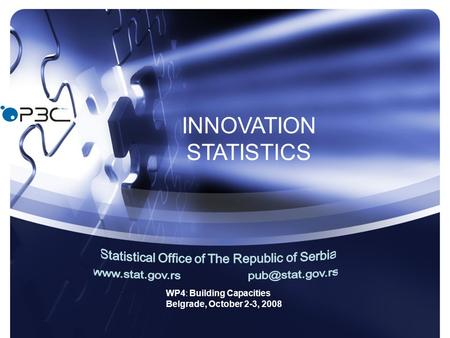 WP4: Building Capacities Belgrade, October 2-3, 2008 INNOVATION STATISTICS.