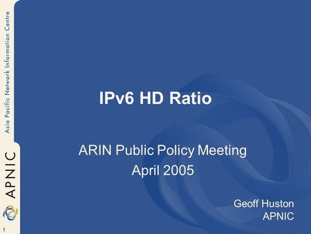 ARIN Public Policy Meeting