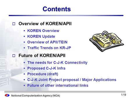 National Computerization Agency (NCA) Future of KOREN/APII October 31, 2003 Byun, Sang-Ick / NCA