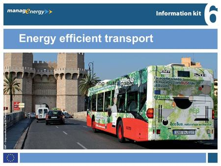 1 6 Energy efficient transport 6 Moving sustainably.