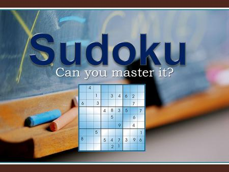 Can you master it?. Sudoku Hype Sudoku is a logic-based number placement puzzle. The objective is to fill a 9×9 grid so that each column, each row, and.