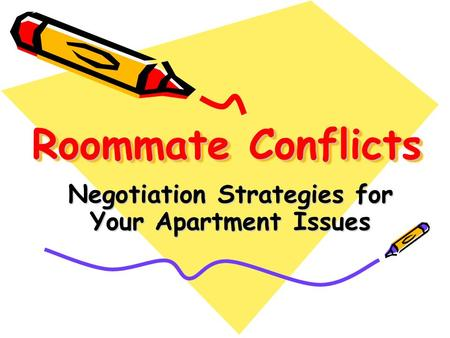 Roommate Conflicts Negotiation Strategies for Your Apartment Issues.