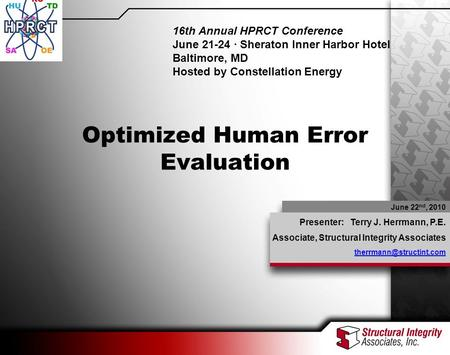 Optimized Human Error Evaluation