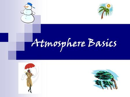 Atmosphere Basics. Weather vs. Climate Weather is the current state of the atmosphere in a specific region Short term variations occur in weather patterns.