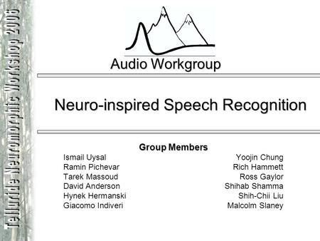 Neuro-inspired Speech Recognition