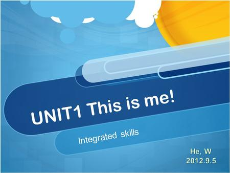 UNIT1 This is me! Integrated skills. Positive and negative sentences in the simple present tense Iam happy. You/We/Theyare He/She/Itis Iam not happy.
