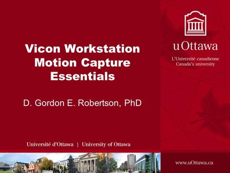 Vicon Workstation Motion Capture Essentials