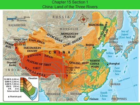 Chapter 15 Section 1 China: Land of the Three Rivers.