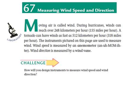 KEY VOCABULARY Anemometer Wind vane Since around 3500 BC in Mesopotamia, people have recognized the importance of measuring wind speed and wind direction.