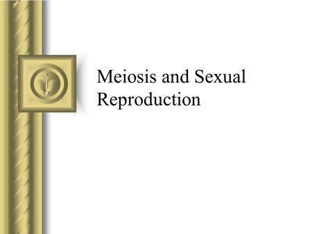 Meiosis and Sexual Reproduction. Sexual Reproduction Diploid Cell A cell that has chromosomes located in similar pairs. These cells are called body cells.